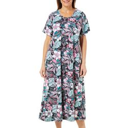 Coral Bay Womens Long Floral Leisure Dress