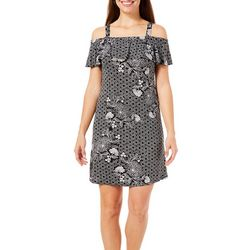 Coral Bay Womens Off the Shoulder Leisure Dress
