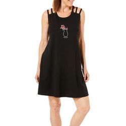 Coral Bay Womens Tropical Drink Strappy Leisure Dress