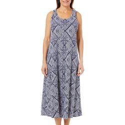 Coral Bay Womens Long Diamond Leisure Dress