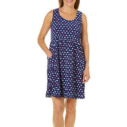 Rene Rofe Womens Nautical Love Terry Lounge Dress
