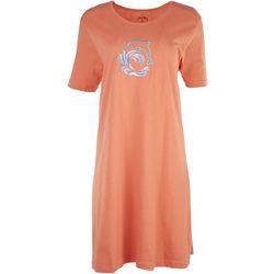 Coral Bay Womens Embriodered Dolphin Leisure Dress