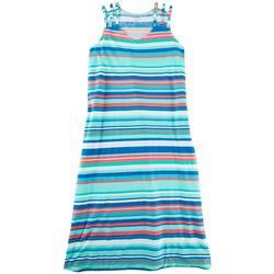 Womens Striped 3-Strap Tank Leisure  Dress