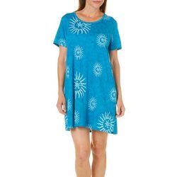 Coral Bay Womens Sunburst Beaded Button Side Lounge Dress