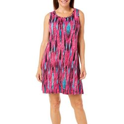 Coral Bay Womens Stripe Beaded Leisure Dress