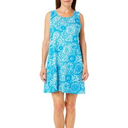Coral Bay Womens Circles Beaded Leisure Dress