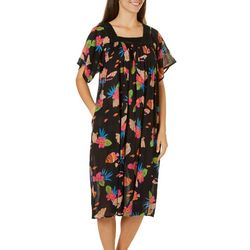 Coral Bay Womens Tropical Life Gauze Leisure Dress