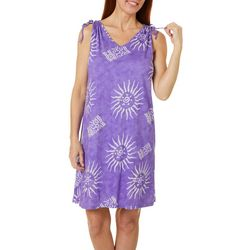 Coral Bay Womens Sunburst Leisure Dress