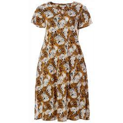 Coral Bay Plus  Animal Printed Shorts Sleeve Dress