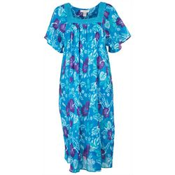 Coral Bay Womens Hibiscus Lounge Dress