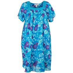 Plus Hibiscus Lounge Dress