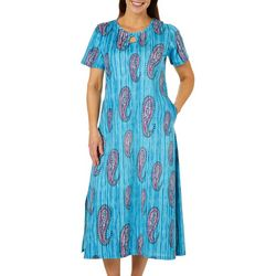 Coral Bay Womens Paisley Leisure Dress
