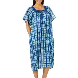 Coral Bay Womens Geometric Gauze Leisure Dress