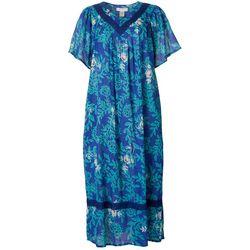 Womens Floral Vines Gauze Leisure Dress