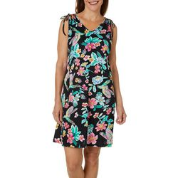 Coral Bay Womens Birds Of Paradise Leisure Dress