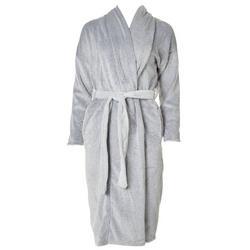 Womens Solid Plush Robe