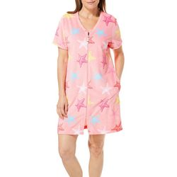 Coral Bay Womens Starfish Short Sleeve Terry Robe