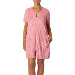 Coral Bay Womens Turtle Short Sleeve Terry Robe