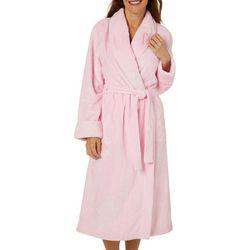 Jasmine Rose Womens Pink Ribbon Beehive Wrap Robe