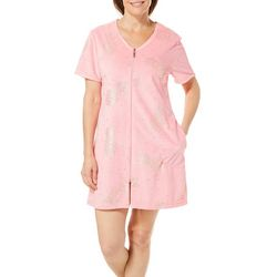 Coral Bay Womens Foil Pineapple Terry Robe