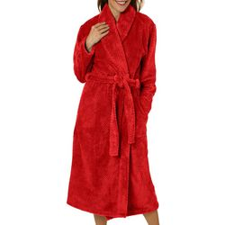 Coral Bay Womens Solid Beehive Wrap Robe
