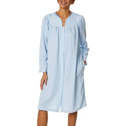 Jasmine Rose Womens Long Sleeve Snap Button Up  Blister Robe