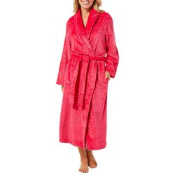 Coral Bay Womens Floral Sheen Soft Texture Robe