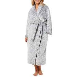 Coral Bay Womens Leopard Burnout Plush Robe 3807459b9