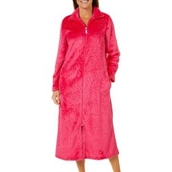Coral Bay Womens Floral Plush Robe