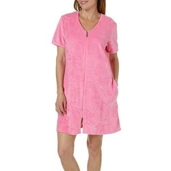 Coral Bay Womens Palm Tree Terry Robe