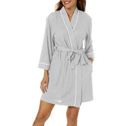 Womens Honeycomb Knit Robe