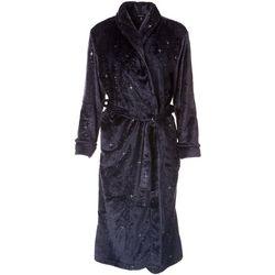 Jones New York Womens Plush Sparkle Star Wrap Robe