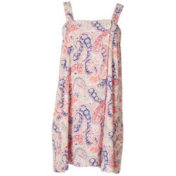 Womens Paisley Terry Shower Wrap Robe