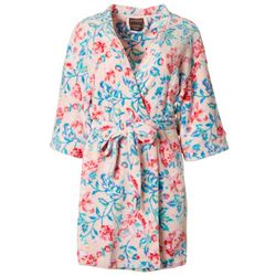 Artology Womens Floral Plush Belted Wrap Robe