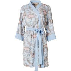 Ink + Ivy Womens Rainpour Paisley Light Weight Wrap Robe