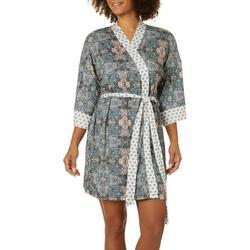 Womens printed Kimono Wrap Robe