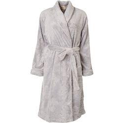 Ink + Ivy Womens Embossed Plush Long Sleeve Wrap Robe