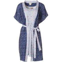 Womens India Medallion Nightgown & Robe Set
