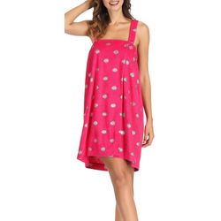 Ink + Ivy Womens Polka Dot Terry Shower Wrap Robe