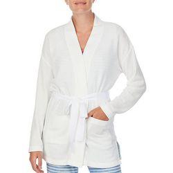 Ellen Tracy Womens Cozy 2 Pocket Short Robe