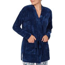 Womens Cozy 2 Pocket Short Robe