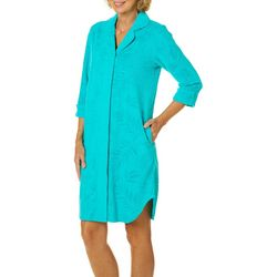 Coral Bay Womens Palm Terry Robe