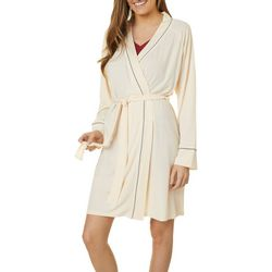 Womens Rib Knit Kimono Robe