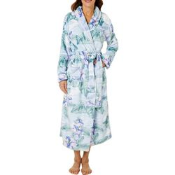 Tommy Bahama Womens Tropical Floral Plush Robe