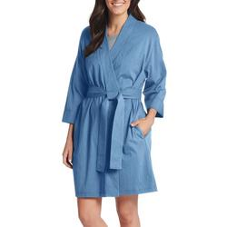 Womens Soft Solid Robe