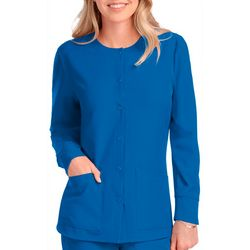 Sketchers Womens Stability Warm Up Long Sleeve Scrub Top