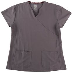 Divine Stretch Solid Wrap Style Scrub Top