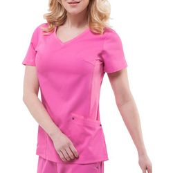 HEALING HANDS Womens Yoga Juliet Solid Scrub Top