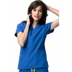 WonderWink Womens Four Stretch V-Neck Scrub Top