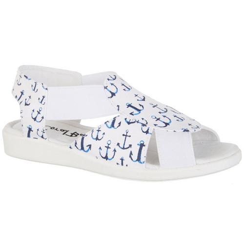 00cf33657 Coral Bay Womens Maggie Multi Anchor Casual Sandals